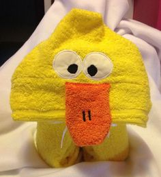 Hooded bath towels by KustomKraftsbyKelly on Etsy, $25.00