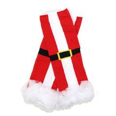 SANTA SUIT LEG WARMERS Price: $9.99, Free Shipping  FITS 6M - 8YRS click to purchase