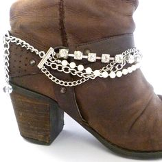 Glamorise your boots! Boot chains from www.bootbooti.etsy.com