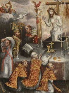 Figure 2. Cuzco School: Mass of St. Gregory