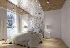 chambre adulte avec un grand lit tout confort et table de chevet