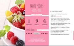 Fruits pochés sous-vide