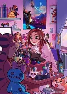 Growing up by HollyBell-- this looks like my future Disney room, But it's missing… - #pascua #ideas