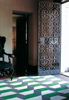 Chiesa Green rug by Suzanne Sharp for The Rug Company
