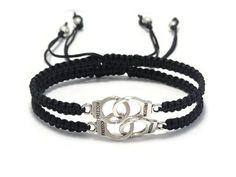 Handcuffs Bracelet Partners in Crime Best Friend by DeluxeSparkle