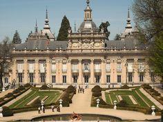 Palacio Real en La Granja de San Ildefonso, Segovia, España (estilo barroco francés)