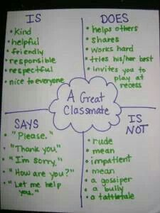 Great anchor chart for explicit teaching of rules,manners, and expectations