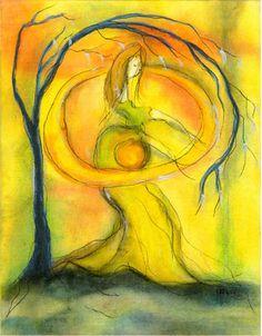 La energía yin es receptiva. Simboliza la energía femenina que hay en cada uno de nosotros, mujeres y hombres. Con ella soñamos, nos inspiramos, nos elevamos.