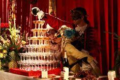 shampane tower burgandy