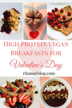 I'll show you high protein vegan breakfast ideas for Valentine's day that can be eaten even in bed if you don't mind the crumbs. They are all very tasty. High Protein Vegan Breakfast, Valentines Breakfast, Workout Protein, Health And Fitness Tips, Health Tips, Protein Foods, Protein Recipes, Mindful Eating, Vegan Lifestyle