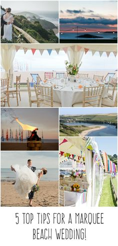 Get tips and ideas for your beach marquee wedding - bring the magic of the sea to your special day. Marquee Wedding, Beach Weddings, Beach Themes, Special Day, Magic, Sea, Table Decorations, Tips, Home Decor