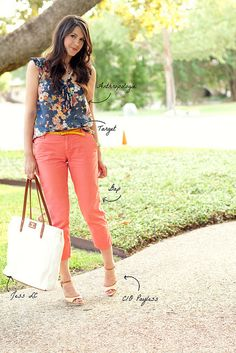 coral pants.. just bought my first pair! Now need to figure out what I can wear them with :)