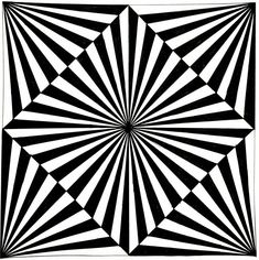 A Best Geometrical Pattern Op Art, Optical Illusion Quilts, Illusion Drawings, Art Fractal, Cool Optical Illusions, Graph Paper Art, Geometry Art, Psychedelic Art, Oeuvre D'art