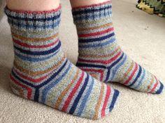 Love self-striping sock yarn! #knitting