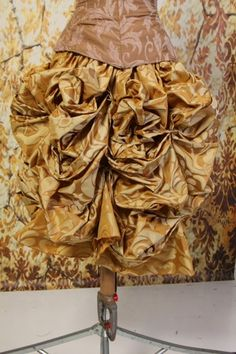 These Bustle Skirts will fit a lower waist measurement of about up to inches Because of the unique way that we do the waistbands where they are flat in the Steampunk Belle, Jane Porter, Bustle Skirt, Warm, Mini, Floral, Skirts, Unique, Gold