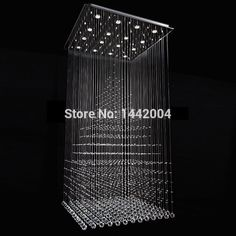 free shipping new popular style square crystal chandelier living modern lustres home crystal lamp decoration L80*W80*H150