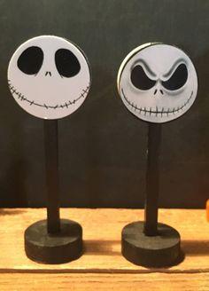 Handcrafted Disneys Nightmare Before Christmas Inspired Halloween Decoration Display Sign Featuring Jack Skellington