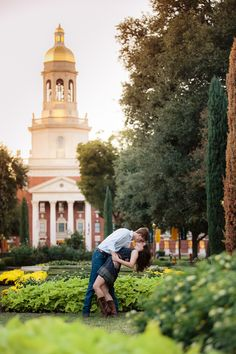 A Baylor engagement photo shoot