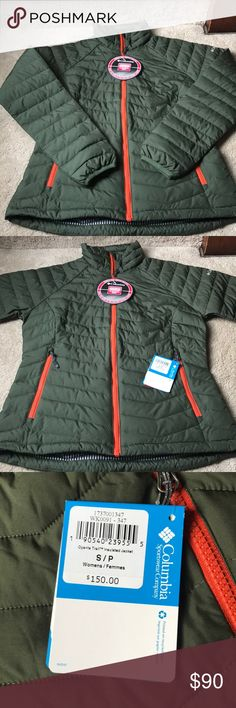 NWT! Columbia thermal coil coat! NWT! Olive green and orange thermal coil coat! Radiates your heat to keep you warm while not feeling stuffed in a bulky coat! Perfect for any occasion!! Columbia Jackets & Coats Puffers