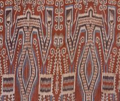 Pusaka Collection of Indonesian Ikat * Textile 074 Borneo Serawak Indonesia Warp ikat
