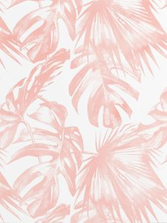 Pink Tropical Palm Leaves Throw Pillow by Simple Luxe - Cover x with pillow insert - Indoor Pillow Leaves Wallpaper Iphone, Palm Leaf Wallpaper, Tropical Wallpaper, Cute Wallpaper Backgrounds, Cute Wallpapers, Blush Pink Wallpaper, Pink Leaves, Leaf Background, Leaf Art