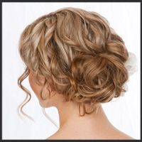 Hair Comes the Bride Hair and Makeup Work . . . this would look lovely with a flower or accessory piece