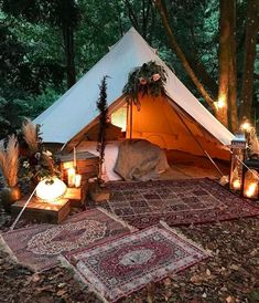 Romantic Bell Tent that we'd love to add to our mountaintop wedding venue.