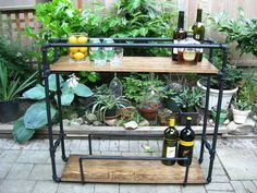 DIY Pipe Bar Cart.