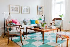 on a boring rug, those chairs would be fugly, but with the right stuff surrounding them, they are nifty!