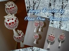 Tutorial palla di Natale ricamata all'uncinetto | How to crochet Christmas ball - YouTube