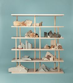 Dom-ino is a crossbreed between a bookcase and a shelves unit, a place for objects to drift to, a multilayer object where to sensibly accumulate our daily life's belongings. Trendy Furniture, Furniture Design, Terence Conran, Organizer, Bookshelves, Bookshelf Design, Bookcase, Interior And Exterior, Stoneware