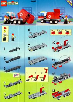 LEGO Instructions 6668 Town Recycle Truck | Got mine imported from Europe!