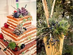 unfrosted wedding cakes | Unfrosted cake