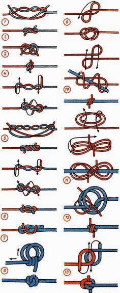 Вязание узлов на поводки