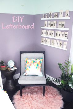 Create a DIY letterboard wall in an afternoon. Kids will love helping with the stencils - and playing with fun messages when the project is complete! Check out the rest of this kid's room makeover in the latest episode of The Weekender.