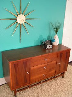 Stanley Furniture Line With Rosewood And Walnut Manufactured 1962. This  Credenza Has Rosewood Inlay On