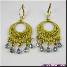 Gold Filigree Hoop Earrings Baby Blue Rhinestone Earrings TAGS - Jewelry, Earrings, Hoop Earrings, carosell creations, hoop earrings, filigree earrings, gold hoop earrings, gold hoops, rhinestone hoops, rhinestone earrings, gold filigree, rhinestone dangle, rhinestone drop, blue rhinestone, blue earrings, filigree jewelry, etsy, handmade, womens, ladies, accessories, teardrop rhinestones