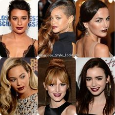 GAME TIMEWHO CAN ROCK DARK LIPSTICK?? #leamichele#rihanna#camillabelle#beyonce#bellathorne#lilycollins#badgalriri #darklipstick #music #style #fashion #instastyle #instafashion #beautiful #ootd #sidesweep #lipstick #celine #chanel #fashionista #sunglasses #floral #prints #hollwood #disney #hermes #streetfashion #winter #pink #glee... - Celebrity Fashion