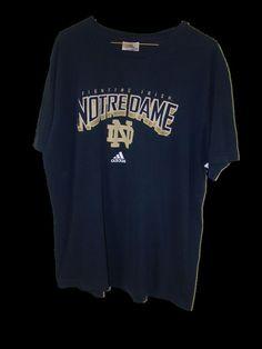 Adidas Mens ND Notre Dame Fighting Irish 100% Cotton Short Sleeve T Shirt XXL #adidas #BasicTee