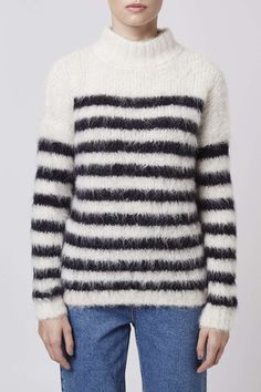 Stripe Knitted Jumper by Boutique - Topshop