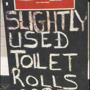 Slightly Used Toilet Papers Sign - #WTF #FAIL