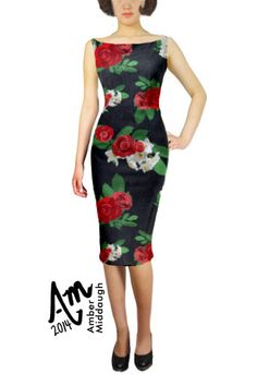 Vintage Floral Pencil Dress by Amber Middaugh $15.00 Plus and Standard size ( Design Auction- if it bids high enough ChicStar will make this in your size) Use my designer's coupon code for 37% off this  or any ChicStar purchase. The code is: AMBER37