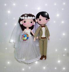 Items similar to Wedding couple- crochet doll on Etsy Crochet World, Crochet Toys, Baby Knitting Patterns, Crochet Patterns, Wedding Doll, Crochet Wedding, Amigurumi Doll, Wedding Couples, Art Dolls
