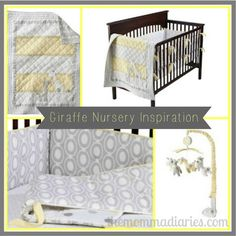 Giraffe Nursery Inspiration yellow and grey nursery