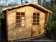 Garden Sheds Ripley petersham bespoke summerhouse 16x10 combined shed, log-lap
