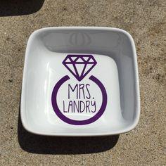 Mrs. ___ Ring Holder by MusicCityMonograms on Etsy https://www.etsy.com/listing/234837147/mrs-ring-holder