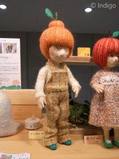 Works *** *** felting doll sheepfold: Indigo