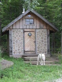 MY sauna or close to it, Saunas, Sauna Shower, Cordwood Homes, Sauna Design, Outdoor Sauna, Finnish Sauna, Natural Homes, Small Buildings, Green Architecture