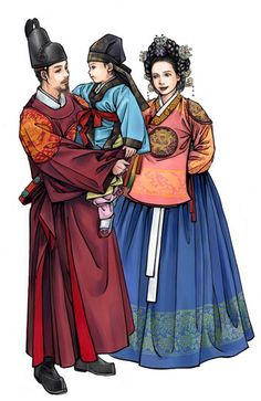 Korean king, queen and prince