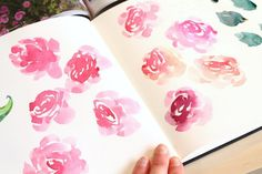 free watercolor tutorial, how to paint roses  I'm so excited to share today's…